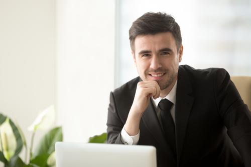 Confident-sales-person-covid-19