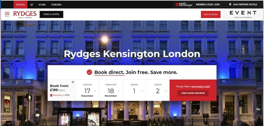 Rydges Kensington london hotel booking