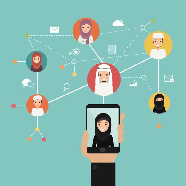 social media in arabic