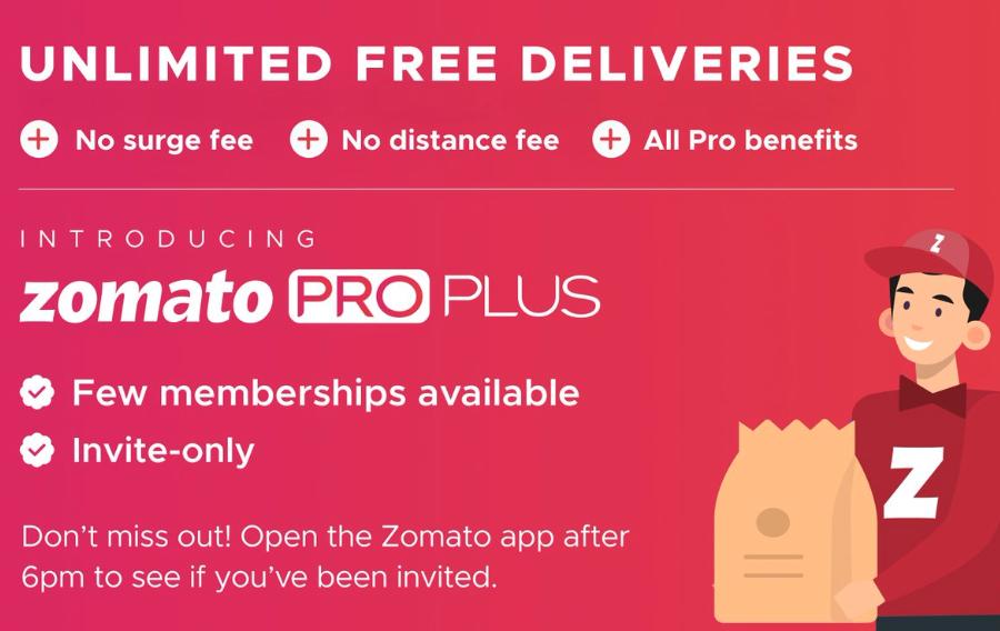 Zomato Pro plus exclusive membership